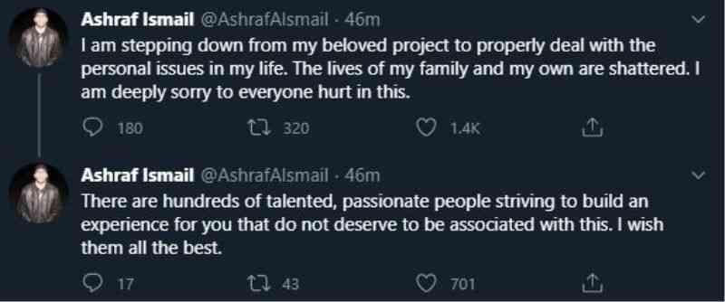 Ashraf Ismail's twit