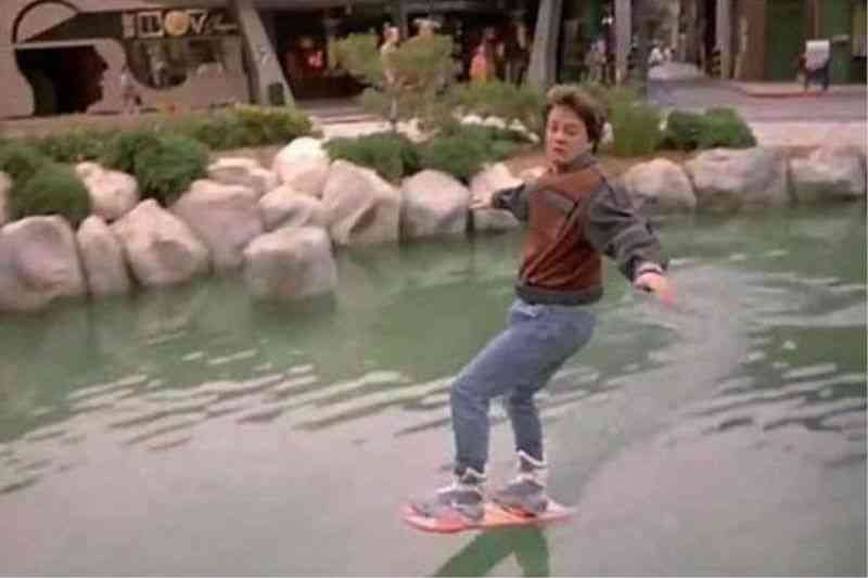 Back to the Future fan made his flying hoverboard