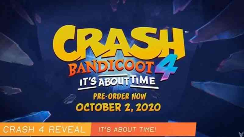 Crash Bandicoot 4: It's About Time is Confirmed