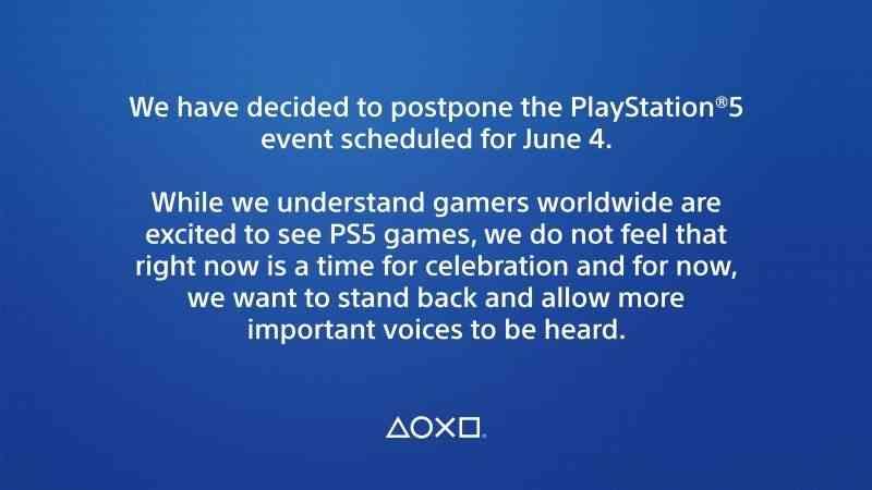 Playstation 5 promotional event postponed