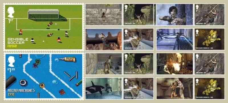 Collectible Video Games stamps from UK Post Office